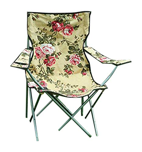 Victorian Floral Chintz Ladies Girly Camping Lawn Garden Sports Chair Fold Up Seat Portable