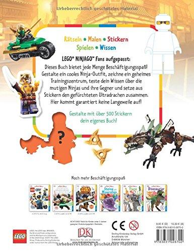 Fachbuch Lego® Ninjago™ Mach-malbuch Neu Toller Spaß Mit über 500 Stickern