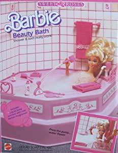 barbie bathroom games sweet roses bath playset w 10078
