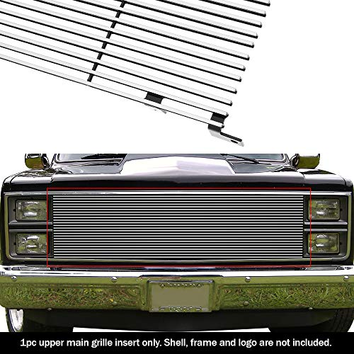 (APS C85002A Polished Aluminum Billet Grille Replacement for select Chevrolet Blazer Models)