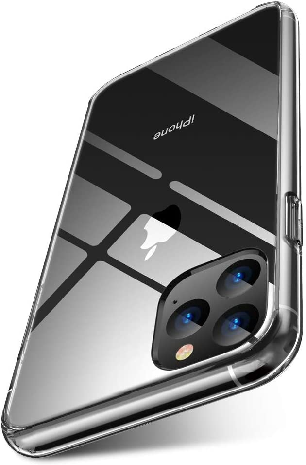 iPhone 11 Pro Max ケース 高透明感 超クリア 高純度ガラス仕様 黄変防止 ハイブリッドケース ストラップホール付き 滑り止め付き (6.5)