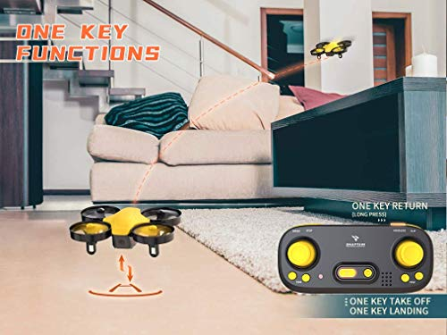 SNAPTAIN SP350 Yellow Mini Drone for Kids/Beginners, Portable RC Drone with 3 Batteries, Toss Fly, Circle Fly, 3D Flip, 3 Speed Mode & Altitude Hold, Great Gift/Toys for Boys & Girls
