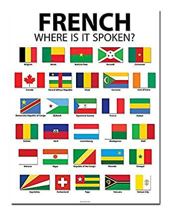 "Amazon.com: French Speaking Countries - 20"" x 26 ..."