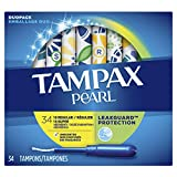 TAMPAX Pearl, Duopack (Regular/Super), Plastic Tampons, Unscented, 34 count