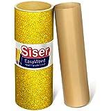 """Siser Glitter Gold Easyweed Heat Transfer Craft Vinyl Roll (150ft x 10"""" Bulk w/Teflon roll)"""