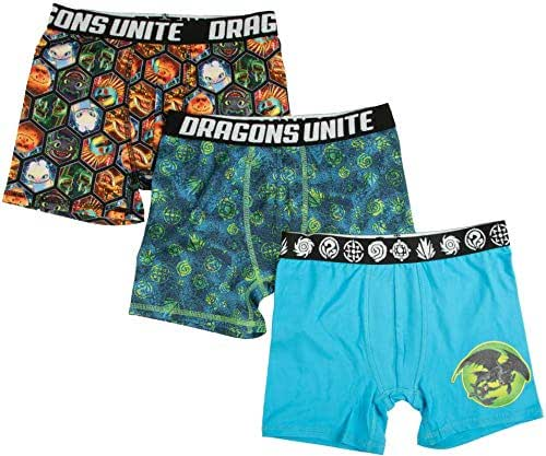 How to Train Your Dragon Boxer Briefs Hidden World 3-Pack Underwear for Boys