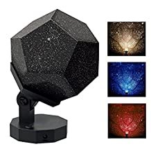 Pawaca 5th Generation DIY Science Sky Projection Night Light Projector Lamp, Remote Control Rotating Phantom Projection Projector Starry Sky Night Lamp For Home Bedroom Decor