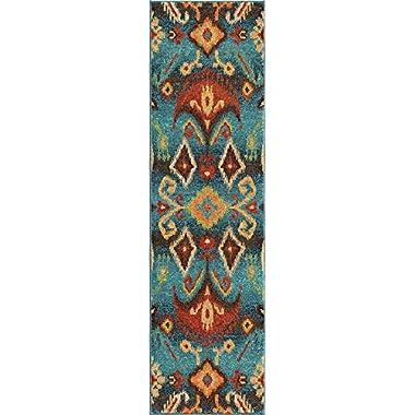 Orian Rugs Bright Color Southwest Aztec Monica Multi Runner (2'3  x 8')