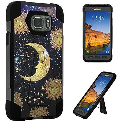 Galaxy S7 Active Case, DuroCase Transforma Kickstand Bumper Case for Samsung Galaxy S7 Active (AT&T, 2016) SM-G891A - (Moon Stars Sun) Sales