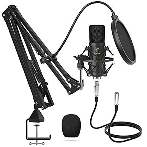 XLR Condenser Microphone, TONOR Professional Cardioid Studio Mic - Sale: $46.99 USD (22% off)