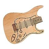 Ideas for a Kitchen Bar Wooden Guitar Shaped Cutting Board - Alder Wood With Dark Print - Chopping Bread Steak BBQ Board - Cool Kitchen Accesories