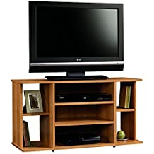 Tv Stand For Flat Screens Wood Premium Low Entertainment Center Oak For Up To 42 Inch