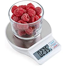 Digital Kitchen Scale with LCD Display and Tare Function, Stainless Steel Large Platform, from 0.17 oz up to 11 lbs Multifunction Compact Food Scale