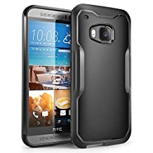 HTC One M9 Case, SUPCASE Unicorn Beetle Series Premium Hybrid Protective Clear Case for HTC One M9 , Retail Package (Black/Black)