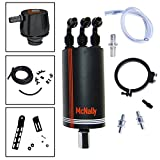 McNally Dual Valve 32 oz. Oil Catch Can Kit + Sensor Adapter for 2015 - 2016 F-150 EcoBoost 3.5L | Works Full Time, Unlike 99% Of The Oil Catch Cans On The Market Which Only Function At Idle