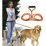 Dual Double Dog Leash for 2 Dogs, No Tangle Pet Dog Leash for Large/Small Dogs 50""