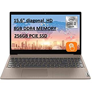 """2020 Powerful Lenovo IdeaPad 15.6"""" HD Touch Screen Laptop, 10th Gen Intel Core i3-1005G1 up to 3.40GHz, 8GB RAM, 256GB PCIe SSD, Dolby Audio, Webcam, Windows 10S, Almond, with E.S 32GB USB Card"""