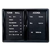 Ovation 2-Door Aluminum Frame Felt Wall Mounted Letter Board, 3' H x 4' W Surface Color: Black, Frame Finish: Black