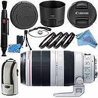 Canon EF 100-400mm f/4.5-5.6L IS II USM Lens 9524B002 + 77mm Macro Close Up Kit + Lens Cleaning Kit + Fibercloth Bundle