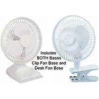 NEW WindStream 6 inch Desk Fan / Clip Fan combo, includes both bases. UL Listed