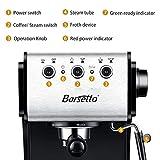 Barsetto Espresso Machine, 13.6 x 11.8 x