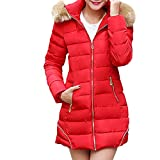 Partiss Womens Winter Thickened Lined Mid-length Coat