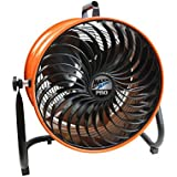 MaxxAir 16 in. 3-Speed Motor Tilting Head Nonskid Feet Powder Coated Steel Turbo Floor Fan with Handle and Built-In Cord Wrap