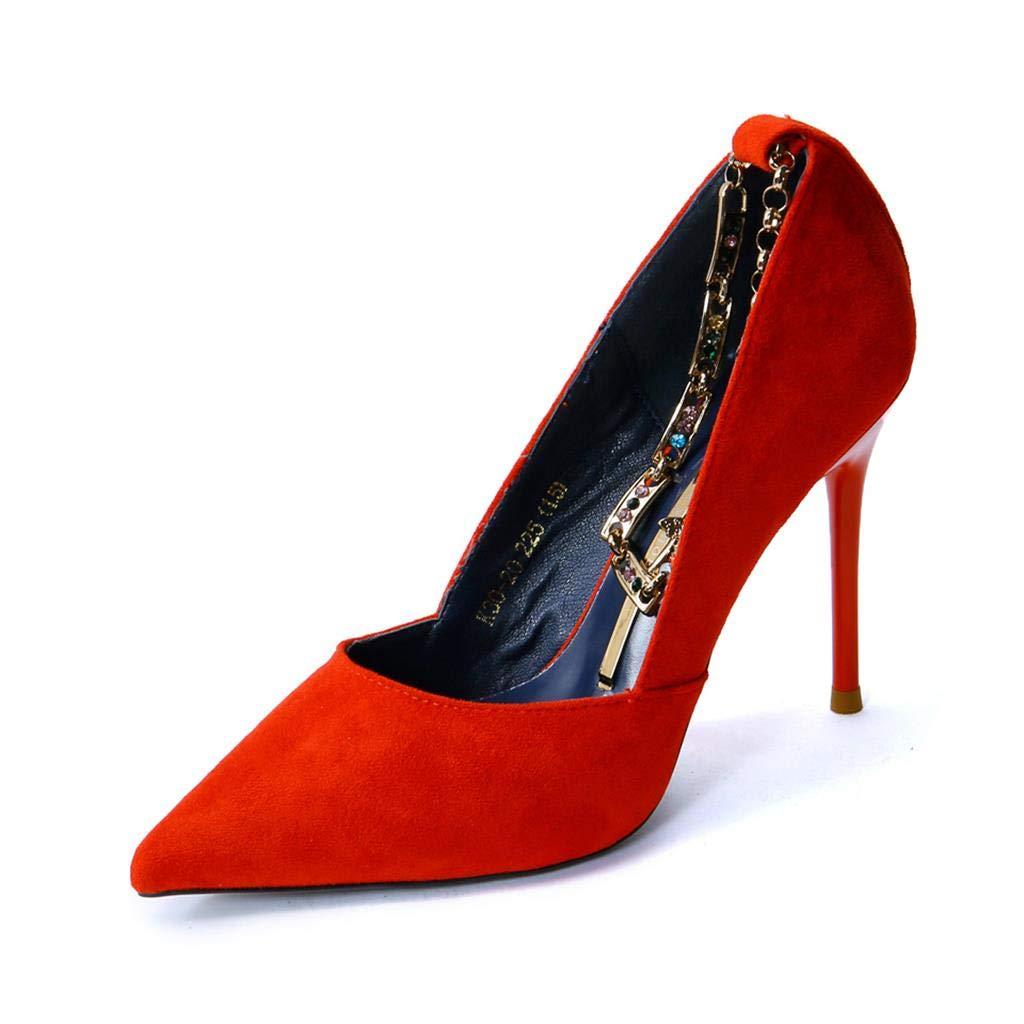 Mr.Zhang's Art Home Mujer Zapatos Rojo con Punta de de de Metal con Tacones  ... ece835c5cfc8