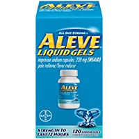 Aleve Naproxen Sodium 220mg Liquid Gels 120 ct Box Pain Reliever/Fever Reducer