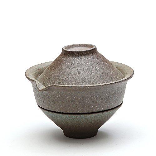 TANGPIN Japanese Ceramic Teapot.Green Shiboridashi with Tea Cups