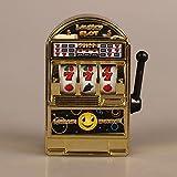 Lanlan Children Mini Lucky Sevens Jumbo Slot Machine Bank Replica Fruit Relieve stress Anxiety Boredom Decompression Toy Gold
