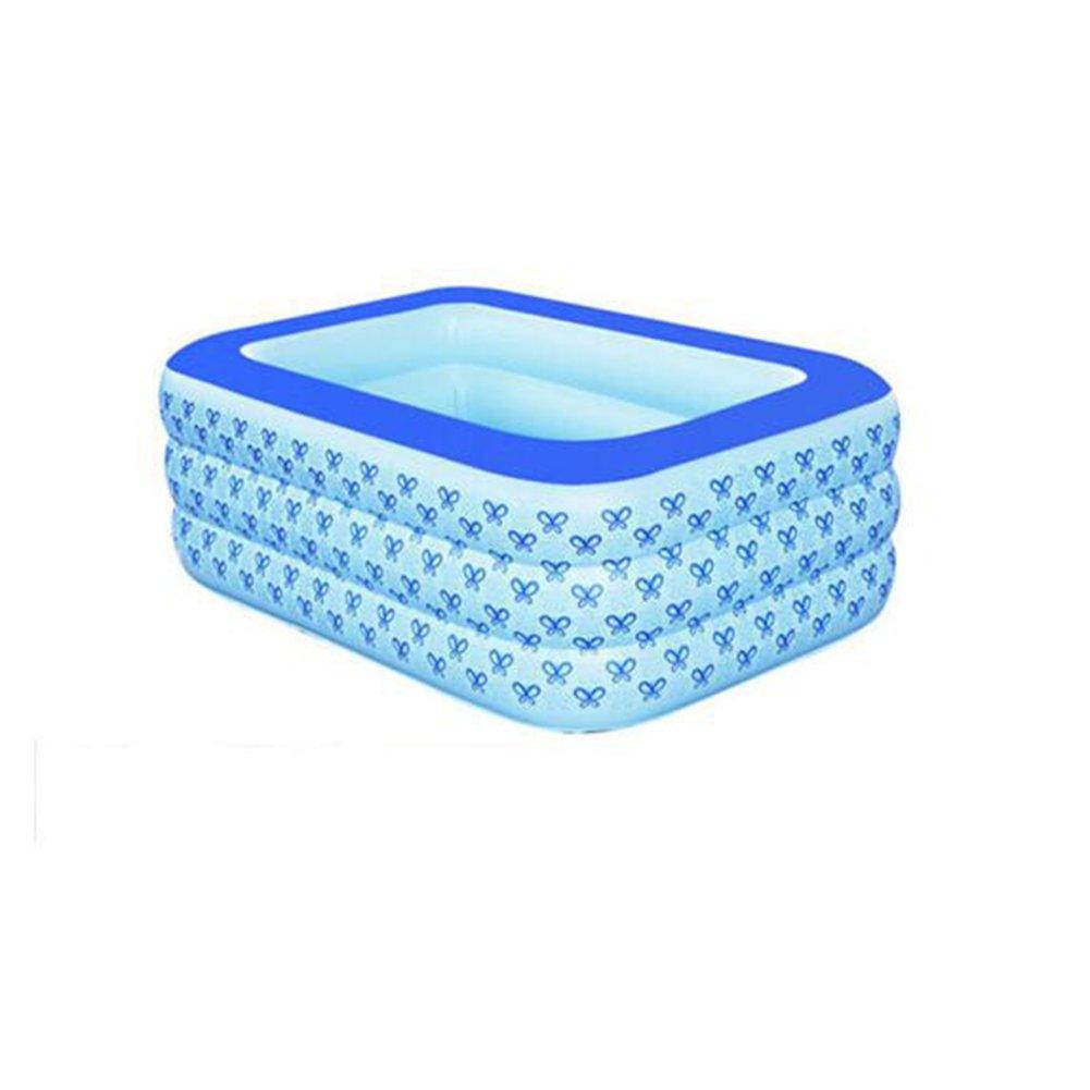 DALL Piscine gonfiabili per bambini Piscina Gonfiabile Vasca Da Bagno Gonfiabile Fare Il Bagno Piscina Per Bambini Piscina Piscina Ricreativa Blu (dimensioni   125  88  52cm)