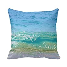 """pillow perfect Decorative nature Beach Pillow Cover 18""""x 18"""" (Twin Sides) Square Pillowcase Cotton Cushion Covers Holiday Gift"""