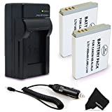 2 Pack NB-6L/NB6L Battery + Battery Charger for Canon PowerShot SX540 SX530 SX610 SX600 SX710 SX700 SX520 SX510 SX500 SX280 SX260 SX170 SD1300 SD1200 SD980 SD770 SD1300 D30 D20 D10 Digital Cameras