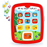 VATOS Baby Music Toy Ipad, Educational Baby Tablet, Baby Learning Toys for Infant 6M -12M -18M+ with Music & Light, Travel Toys with Easy ABC Toy, Numbers & Color | Toys for Baby's First Birthday