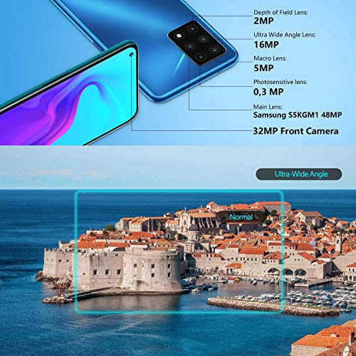 CUBOT X30 Unlocked Smartphone (8GB+128GB) with 6.4-Inch FHD+ Display,Five Al Cameras, Android 10, 4200mAh Battery, 4G Dual SIM Phone (Gradient Green)