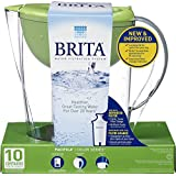 Brita Pacifica Water Filter Pitcher, Green, 10 Cup