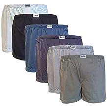 Men's 100% Cotton Boxer Shorts Close Fit - Single, 3 or 6-pack - Sizes: L, XL, XXL