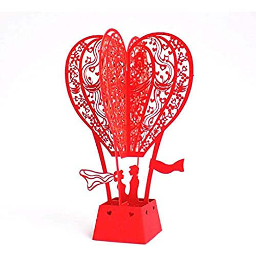Love Balloon Red 3D Pop Up Greeting Cards Anniversary Baby Birthday Easter Halloween Mother's Father's Day New Sales