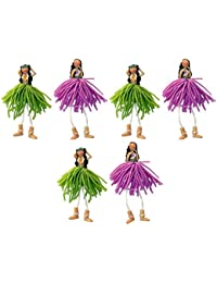 Want 6 Hawaiian Hula Girl Magnets with String Legs save