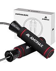 Amonax Springtouw voor volwassenen, springtouw voor mannen en vrouwen, snelheidstouw voor Crossfit training, thuis fitness apparatuur voor fitness, training, training en bokstraining.