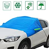 IZTOR Premium Windshield Snow Cover Sizes for ALL Vehicles - Covers Wipers - Snow, Ice, Frost Guard No More Scraping for kids pets family COVERS WINDSHIELD WINDOWS and mirrors for any vehicle bule