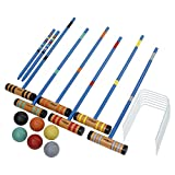 DMI Sports Champion 6-Player Croquet Set Mallet and Carrying Case, 24-Inch