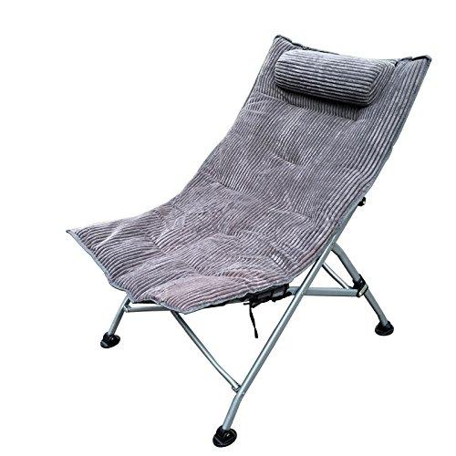 ch-AIR Home Im Freien Einzelnes Mittagessen Break Chairs Lounge Chair N Klappstühle Lounge Chair Sessel Sun Liegen (Farbe   rotB) Grau
