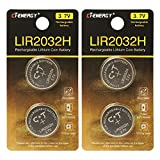 LIR2032 Rechargeable Batteries 3.7V with High