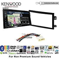 Volunteer Audio Kenwood Excelon DNX694S Double Din Radio Install Kit with GPS Navigation System Android Auto Apple CarPlay Fits 2003-2005 Nissan 350Z (Without Bose)