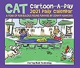 Cat Cartoon-A-Day by Jonny Hawkins 2021 Box Calendar