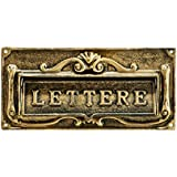 AdirHome Bronze Steel Fabulous Italian Through-Door Mail Slot