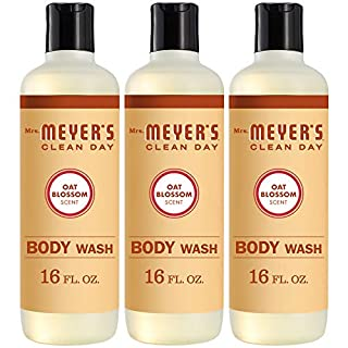 Mrs. Meyer's Clean Day Moisturizing Body Wash, Cruelty Free and Biodegradable Formula, Oat Blossom Scent, 16 oz- Pack of 3