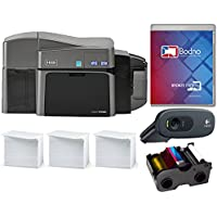 Fargo DTC1250e Dual Sided ID Card Printer & Complete Supplies Package (Bronze Edition Software)